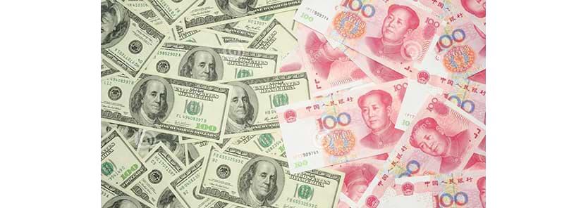 Dollar und Yuan
