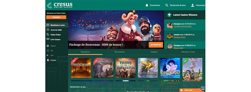 Homepage Cresus Casino