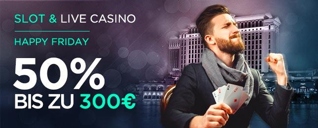 Cbet Freitags-Bonus für Slots und Live-Casino