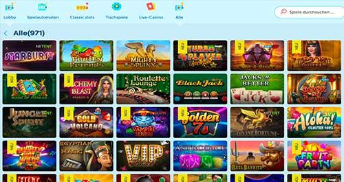 Die Spielautomaten bei PlayFrank