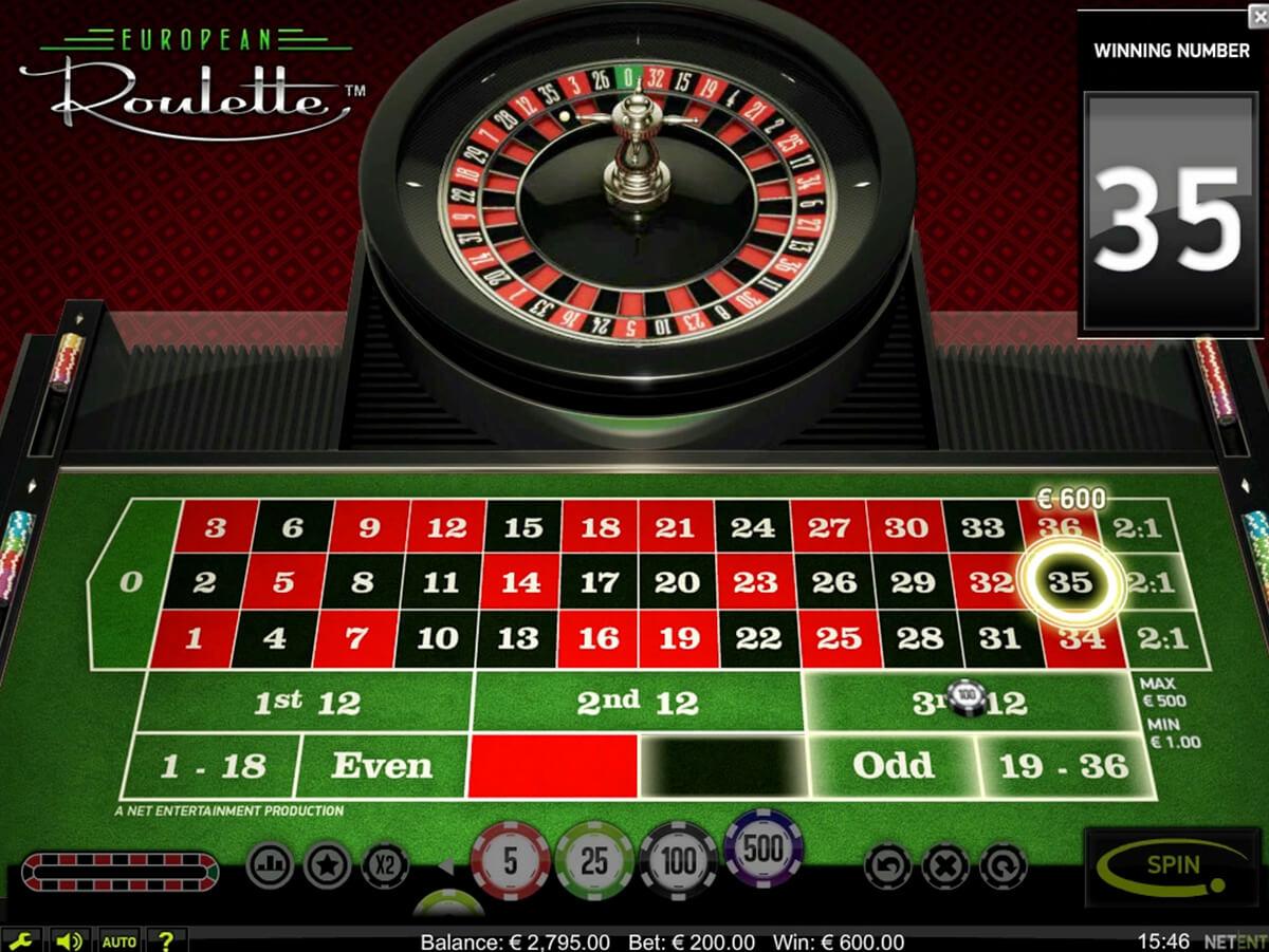 European Roulette Screenshot Desktop