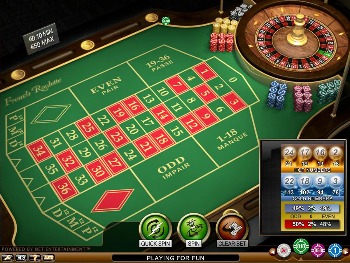 French Roulette Screenshot Desktop