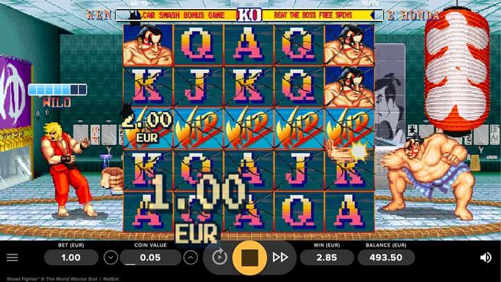 NetEnt Street Fighter II Slot Screenshot