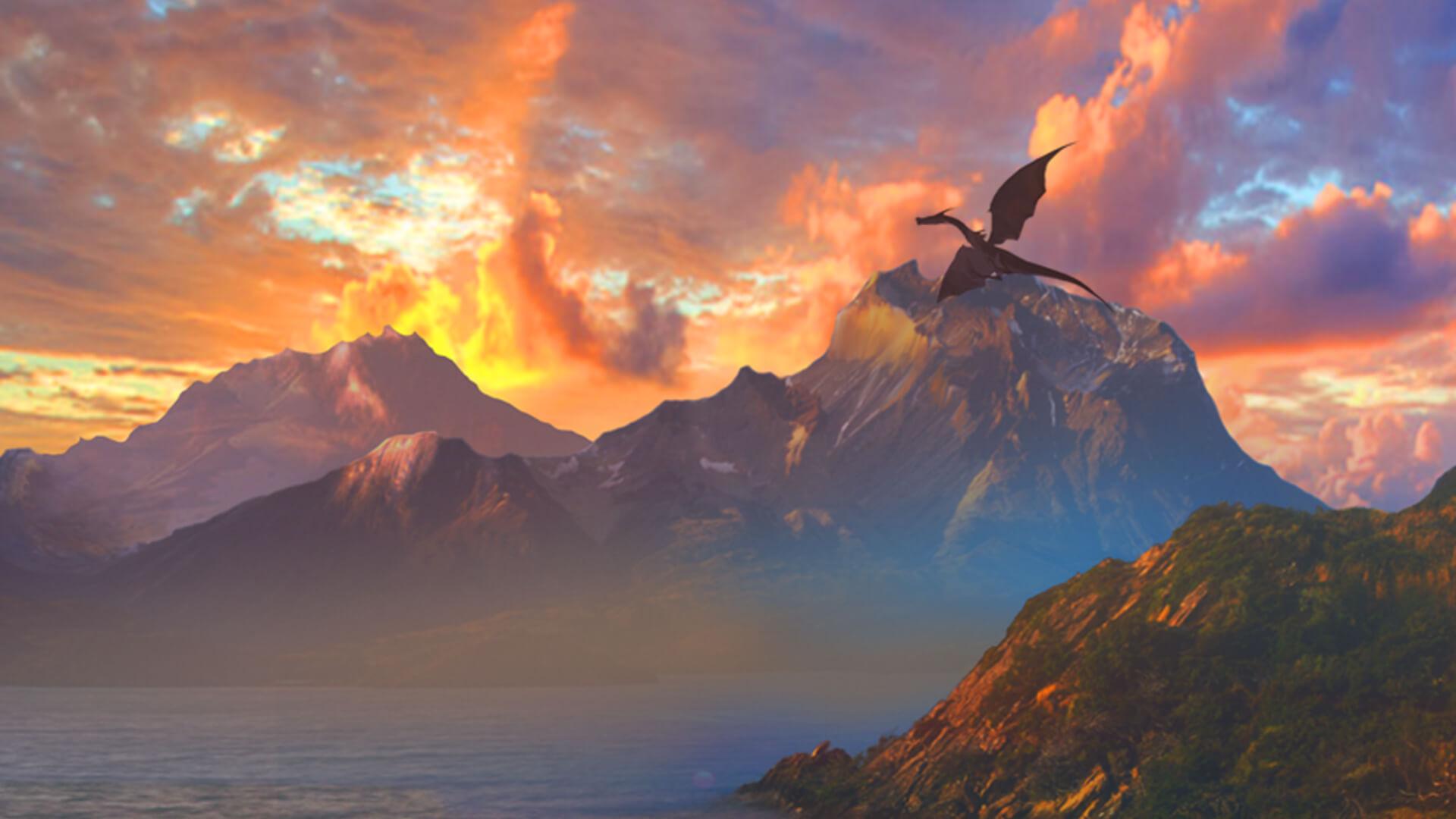 Hintergrund mit hoher Auflösung Dragon Reborn