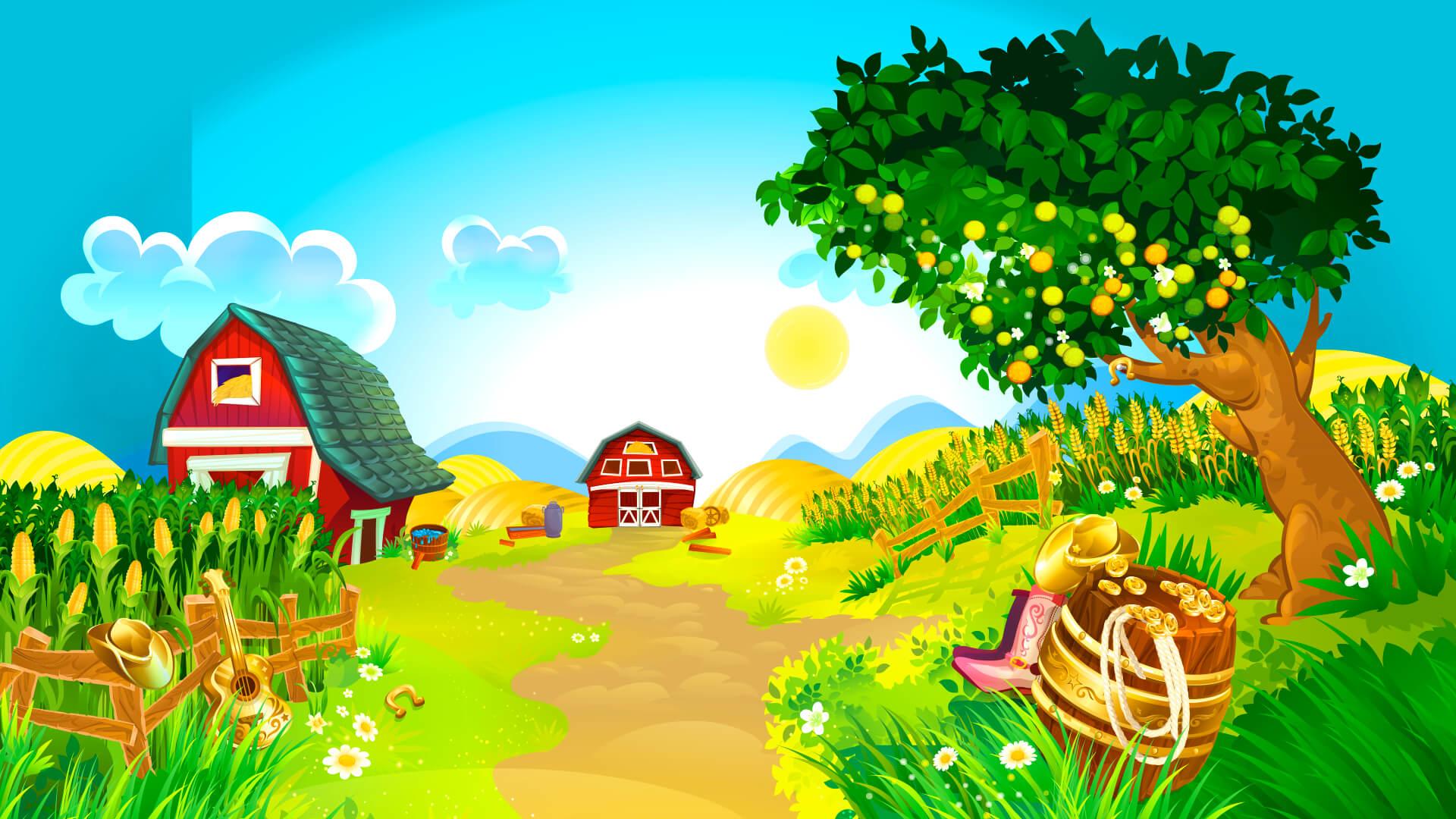 Hintergrund mit hoher Auflösung Oink Country Love