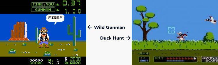 Nintendos Duck Hunt und Wild Gunman